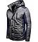 Мужская зимняя куртка серого цвета с капюшоном 1396Z, фото 3