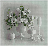 Белый натюрморт H328 Набор для вышивки крестом канва 14ст