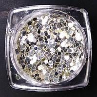 Конфетти (белое золото) для декора ногтей B02