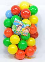 Шарики для сухого бассейна диаметром 8 см в сетке 50 штук M-Toys