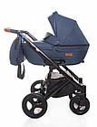 Детская коляска универсальная 2 в 1 Broco Capri Textile blue (Броко Капри, Польша), фото 2