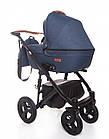 Детская коляска универсальная 2 в 1 Broco Capri Textile blue (Броко Капри, Польша), фото 3