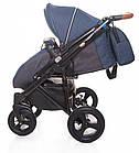 Детская коляска универсальная 2 в 1 Broco Capri Textile blue (Броко Капри, Польша), фото 4