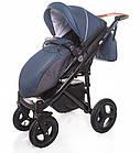 Детская коляска универсальная 2 в 1 Broco Capri Textile blue (Броко Капри, Польша), фото 5
