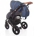 Детская коляска универсальная 2 в 1 Broco Capri Textile blue (Броко Капри, Польша), фото 6