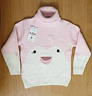 Теплый зимний свитер под горло для девочки