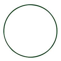 Обруч металлический 750 мм цвет зеленый