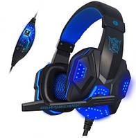 Наушники игровые PLEXTONE PC780 Gaming с микрофоном (синие), фото 1