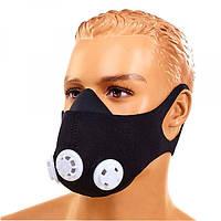 Маска тренировочная Training Mask (3 клапана, неопрен, унтверсальный розмер, черный)