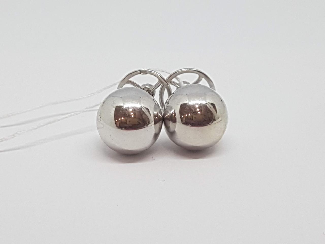Серебряные пуссеты. Артикул 580062С