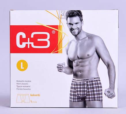 Мужские трусы - боксеры C+3  811 XL синие с голубым , фото 2