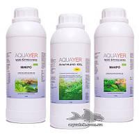 МАКРО+МИКРО+Альгицид+СО2 AQUAYER 1л комлект аквариумных удобрений