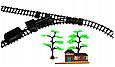 Детская железная дорога Большой Коллекционный торговый поезд с фонарем и дымом Roil King, фото 2