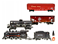 Детская железная дорога Большой Коллекционный торговый поезд с фонарем и дымом Roil King, фото 4