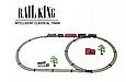 Детская железная дорога Большой Коллекционный торговый поезд с фонарем и дымом Roil King, фото 5