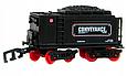 Детская железная дорога Большой Коллекционный торговый поезд с фонарем и дымом Roil King, фото 8