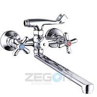 Смеситель для ванны Zegor DST7 (DST-A827) двухвентильный с душем цвет хром