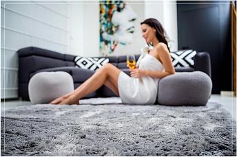 М'який плюшевий плюшевий килимок 140x200 PLUSZ, фото 2