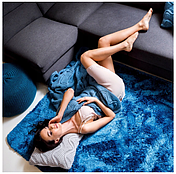 М'який плюшевий плюшевий килимок 140x200 PLUSZ, фото 3
