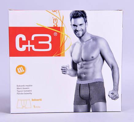 Мужские трусы - боксеры C+3  811 XXL  серый с коричневым , фото 2