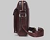 Чоловіча сумка барсетка шкіра Polo Feidika великого розміру Чорний, фото 3