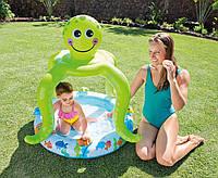 Надувной бассейн Intex Осьминог с надувным дном для детей от 1 до 3 лет, 45 л
