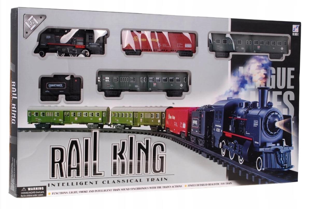 Большая Детская железная дорога с фонарем и димом