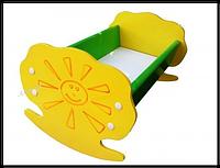 """Кукольная деревянная кроватка """"Солнышко"""""""