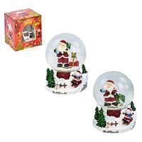 Заводной снежный шар  Санта (Дед Мороз)