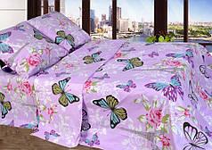 Комплект постельного белья Уютная Жизнь Евро 200x215 Бабочки