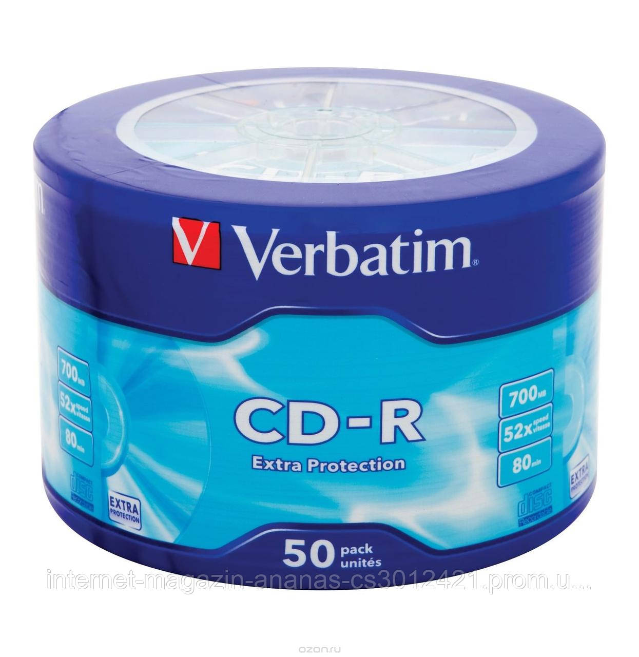 Диск CD-R Verbatim 700Mb/80min 52x (Wrap 50 ) 43787 Extra Protection