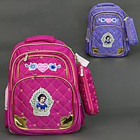 Ортопедический рюкзак с рисунком Белоснежки и пеналом, фото 1