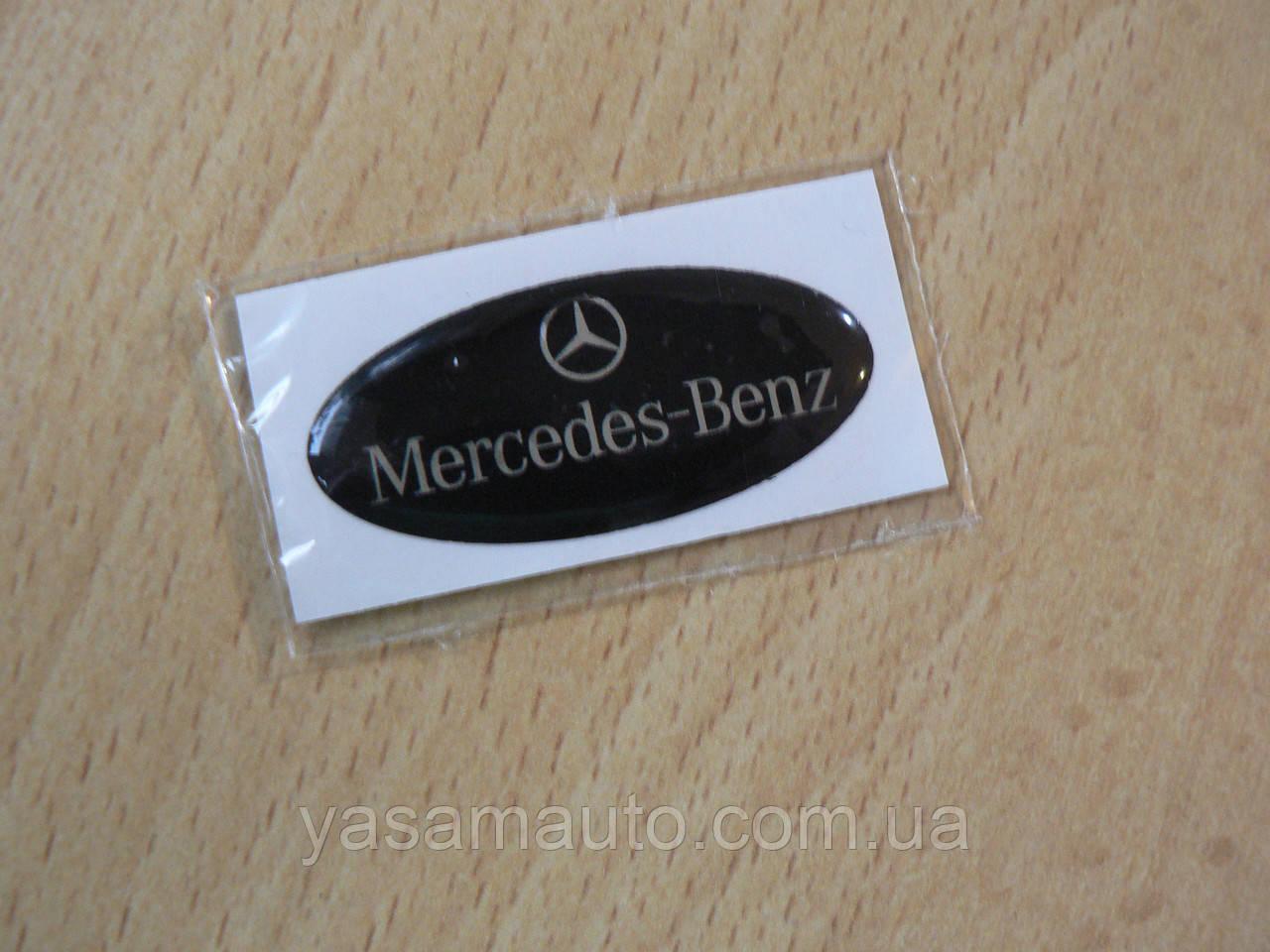 Наклейка s надпись овал Mercedes Benz 45х20х1.2мм силиконовая эмблема логотип на авто Мерседес Уценка приподни