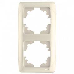 Рамка Viko Carmen 90572002 вертикальная двойная Кремовый (ЦБ000011203)
