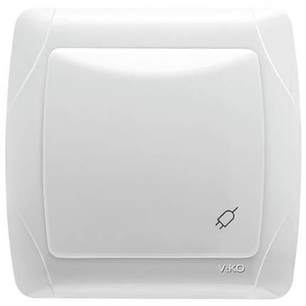 44e0a55cbada Розетка Viko Carmen 90561012 с заземлением  крышкой  шторками одинарная  Белая (ЦБ000011158)