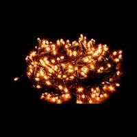 """Гирлянда """"Нить""""(String Light ) - 10м. 100Led тепло белый, черный кабель"""