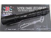 Ручной очень яркий фонарь Police BL-2804 T6 158000W, светодиодный фонарик работает на двух аккумуляторах, фото 1