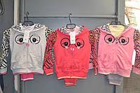 Трикотажные спортивные костюмы тройки для девочек.Размеры 98-128см.Фирма GOLOXY.Венгрия, фото 1