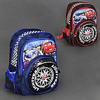 Ортопедический рюкзак Тачки синий и красный, фото 1