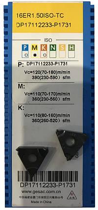 Пластина для наружной резьбы 16ER 3.0, фото 2