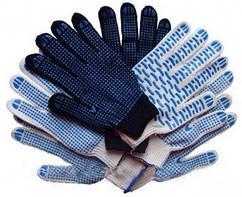 Перчатки трикотажные с точечным покрытием