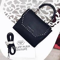 Сумка реплика филипп плейн в черном цвете , брендовые сумки