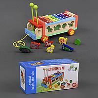 Деревянная игра с детским ксилофоном в наборе 7 фигур