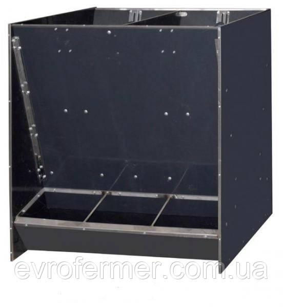Двухсторонняя бункерная кормушка для доращивания свиней 60 голов