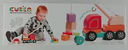 Деревянная игрушка Авто-кран 13982 Левеня Украина
