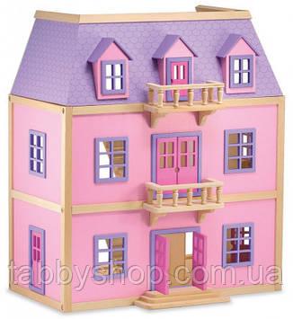 Деревянный домик для кукол Melissa & Doug с балконами