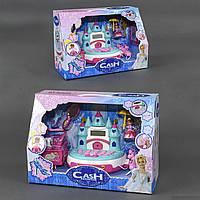 Детский кассовый аппарат Замок музыкальный голубой
