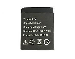 Аккумуляторная батарея для смарт-часов UWatch A1/DZ09/GT08/X6 380 мАч (hub_LIcW65443_my)