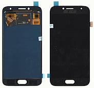 Дисплей + сенсор Samsung J250 J2 ( J2018) Чорний LCD TFT, з регулюванням яскравості