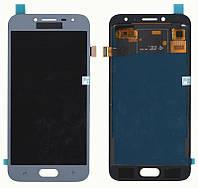 Дисплей + сенсор Samsung J250 J2 (J2018) Серый LCD TFT, с регулировкой яркости (PRC)